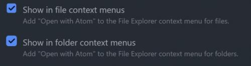 Bocka i båda så kan man öppna både filer och mappar ifrån Utforskaren.