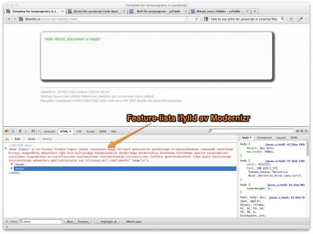 Många features stöds i min Firefox, det är bra det.