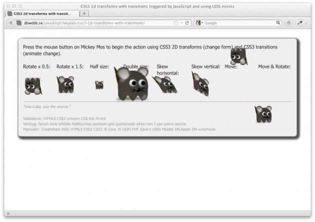 Lär dig JavaScript och lite CSS3 animationer med en egen baddie.