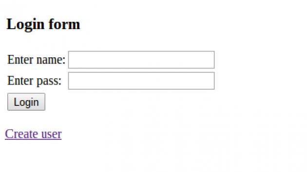 En enklare inloggningsruta som döljer en del databaskod.