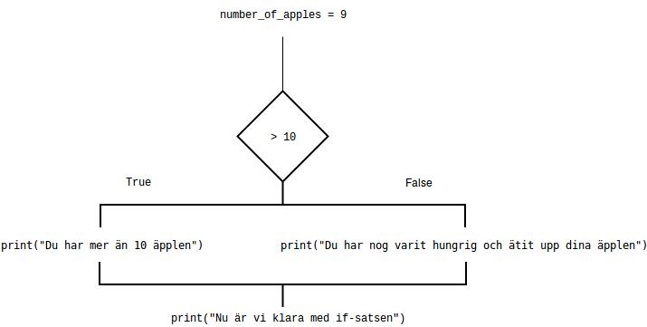 Flödesdiagram för en if-sats.