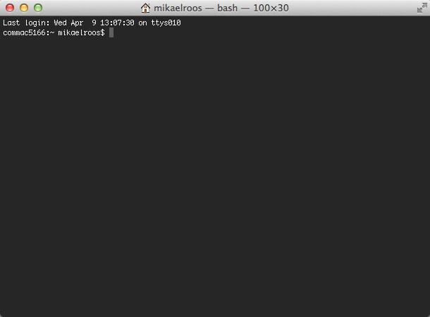 Ett terminalfönster på din Mac.