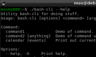 Bash-skript med options.