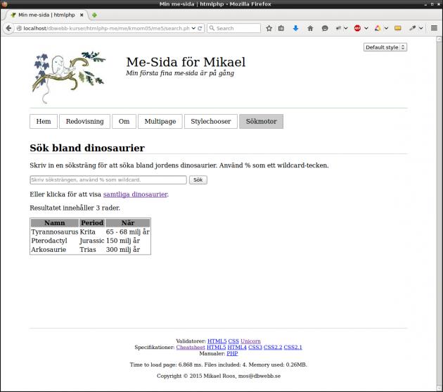 Bygg vidare på din sökmotor för dinosaurier (eller vad du nu valde).