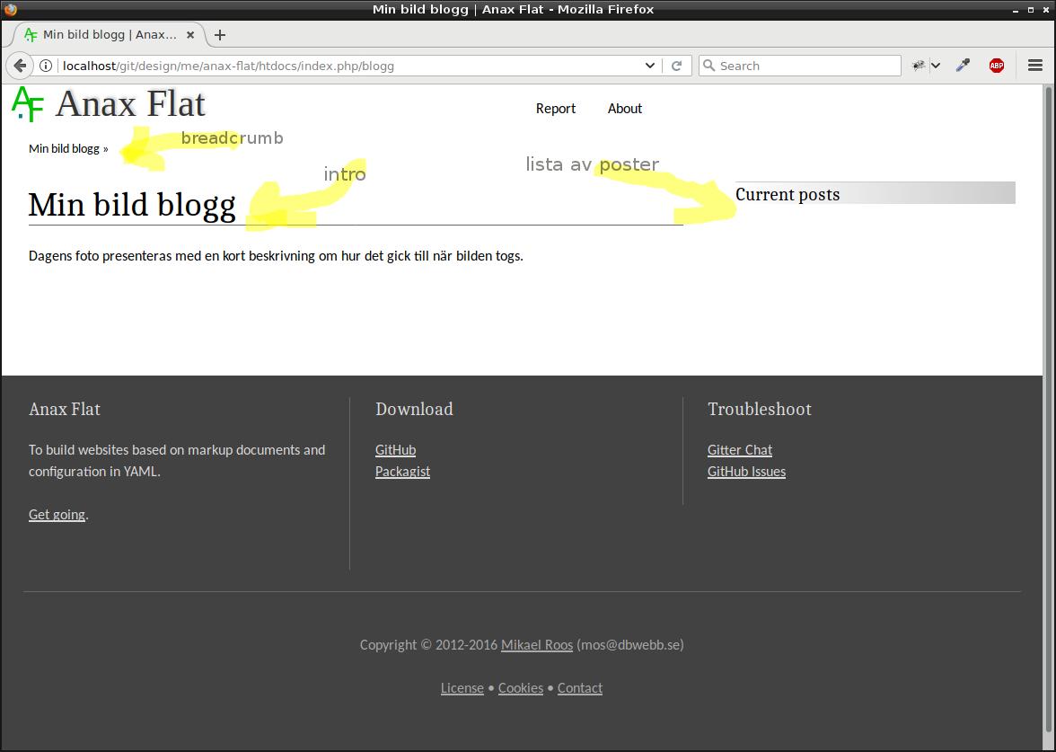 Första delen av bloggen är på plats.