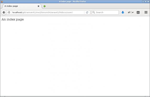 Så här ser index-sidan ut när den fungerar.