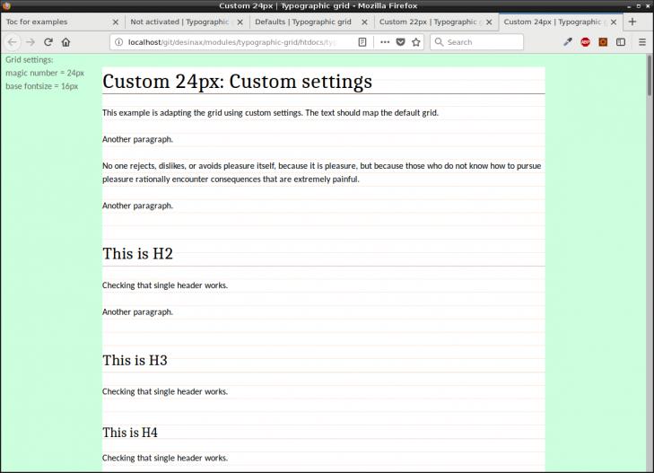 Skapa en grundtypografi som matchar ett horisontellt grid.