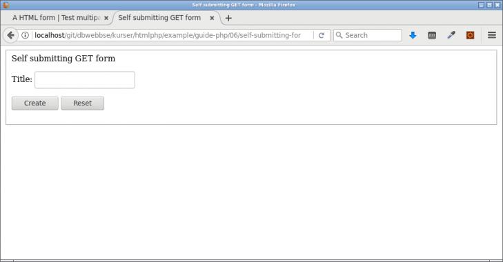Ett self-submitting GET formulär för att testa och leka.
