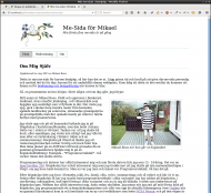 En me-sida i version 2.