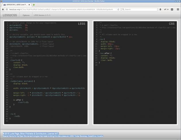 LESS2CSS kan hjälpa dig att utveckla och testa din LESS_kod.