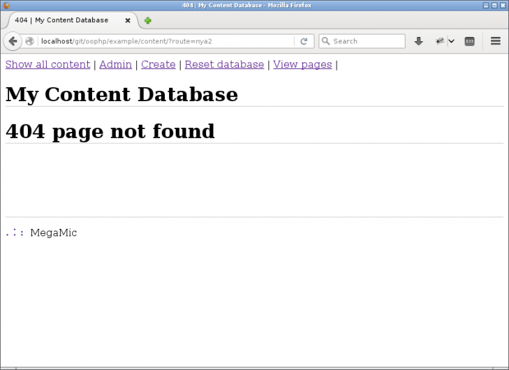 404 för att sidan kunde inte visas.