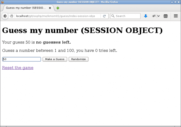 Gissa numret i PHP hjälper dig komma igång och repetera det du redan kan.