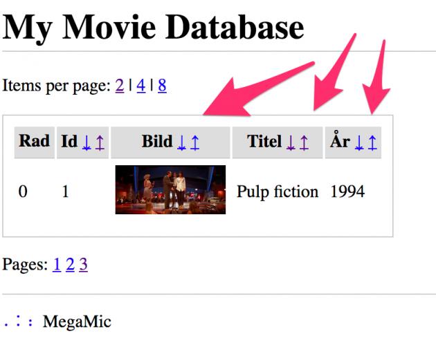 Din egen sökbara filmdatabas kan bli ett resultat av detta kursmoment.