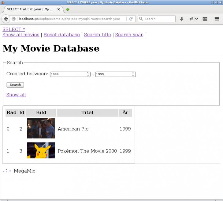 Nu kan jag söka på filmer mellan två år.