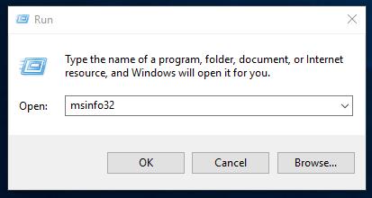 Kör igång programmet msinfo32.