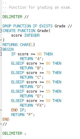 Programmera i en databas med egendefinierade funktioner.
