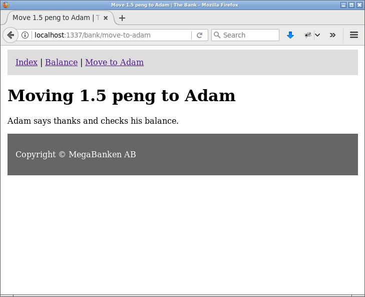 Adam har precis fått 1.5 pengar.