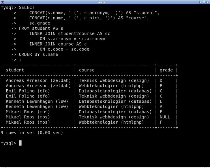 Ha din SQL-kod i en textfil och kopiera in i terminalklienten vid behov.