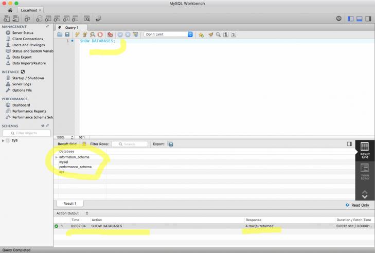 Nu fungerar både Workbench och MySQL databasserver.