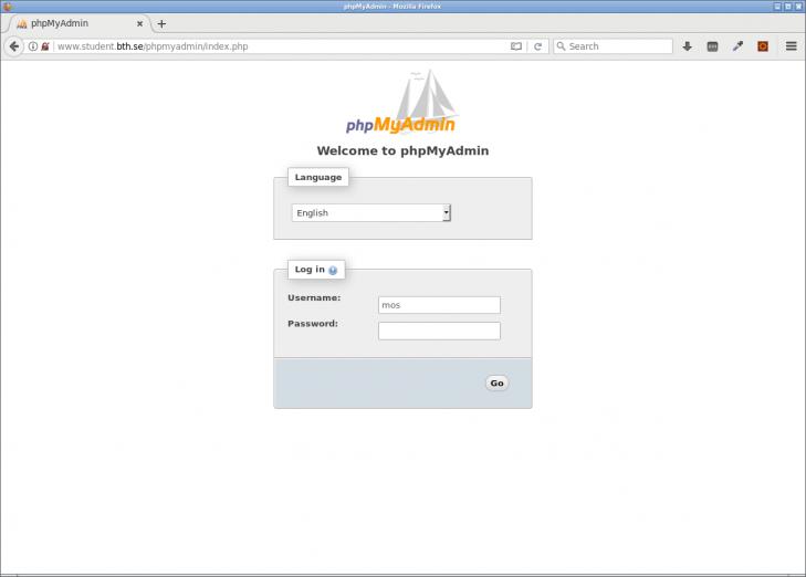 Inloggning sker via webbläsaren, det är en webbaserad applikation, byggd i PHP.