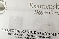 Examensbevis.