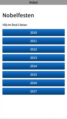Screenshot Nobel app list-vy